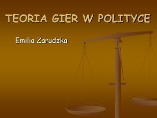 TEORIA GIER W POLITYCE
