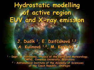 Hydrostatic  model ling           of active region EUV  and X-ray  emis sion