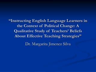 Dr. Margarita Jimenez Silva