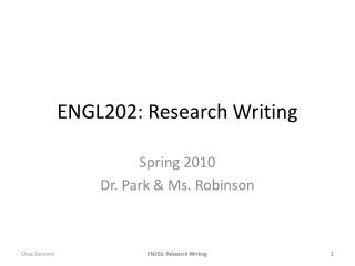 ENGL202: Research Writing