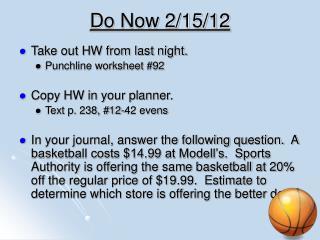 Do Now 2/15/12