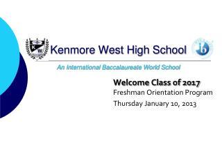 Kenmore West High School An International Baccalaureate World School