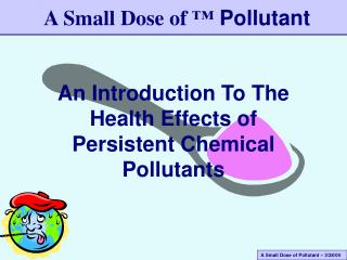 An Introduction To The Health Effects of Persistent Chemical Pollutants