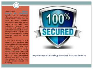 Importance of Editing Services for Academics