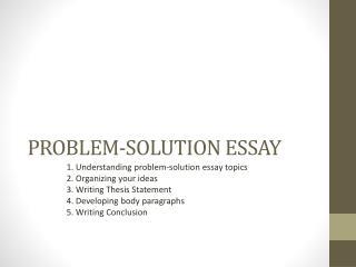 topics for problem solution essay