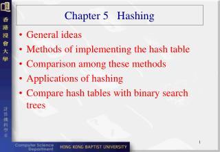 Chapter 5   Hashing