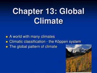 Chapter 13: Global Climate
