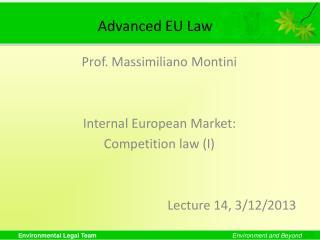 Advanced EU Law