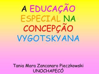 A EDUCA  O ESPECIAL NA CONCEP  O VYGOTSKYANA   Tania Mara Zancanaro Pieczkowski UNOCHAPEC