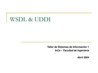 WSDL & UDDI