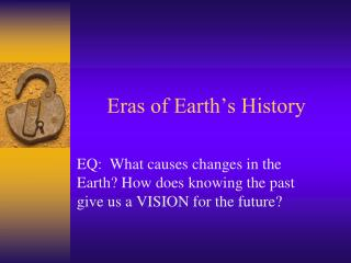 Eras of Earth's History