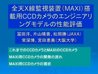 全天 X 線監視装置( MAXI )搭載用 CCD カメラのエンジニアリングモデルの性能評価