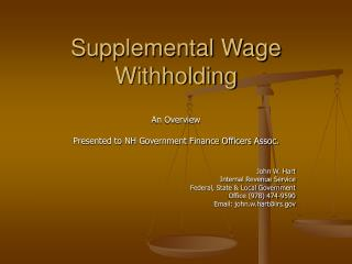 Supplemental Wage Withholding