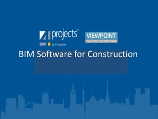 BIM Software for Construction