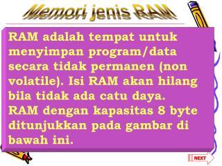 Memori jenis RAM