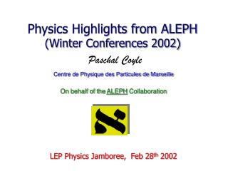 Physics Highlights from ALEPH (Winter Conferences 2002)