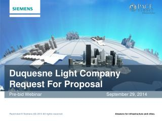 Duquesne Light  Company Request  For  Proposal
