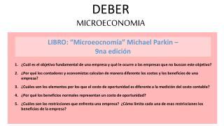 DEBER MICROECONOMIA