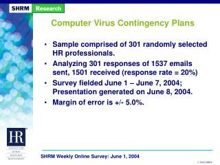 Computer Virus Contingency Plans