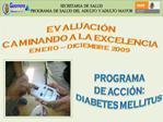 SECRETARIA  DE  SALUD  PROGRAMA  DE  SALUD  DEL  ADULTO  Y ADULTO  MAYOR