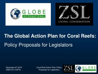 The Global Action Plan for Coral Reefs: Policy Proposals for Legislators