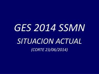 GES 2014 SSMN SITUACION ACTUAL (CORTE 23/06/2014)