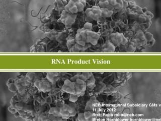 RNA Product Vision