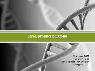 RNA  product portfolio