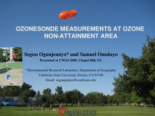OZONESONDE  MEASUREMENTS AT OZONE  NON-ATTAINMENT AREA