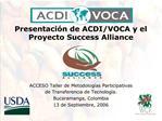 Presentaci n de ACDI