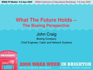What The Future Holds –  The Boeing Perspective