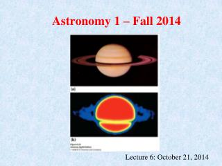 Astronomy 1 – Fall 2014
