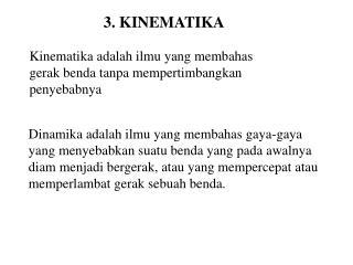 3. KINEMATIKA