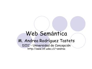 Qué es la Web Semántica?