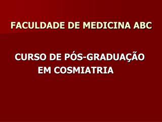 FACULDADE DE MEDICINA ABC