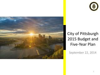 City of Pittsburgh  2015 Budget and Five-Year Plan