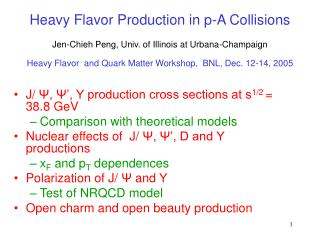 Heavy Flavor Production in p-A Collisions