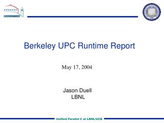 Berkeley UPC Runtime Report