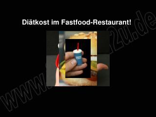 Di tkost im Fastfood-Restaurant