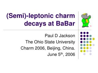 (Semi)-leptonic charm decays at BaBar