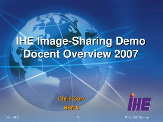 IHE Image-Sharing Demo Docent Overview 2007