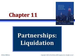 Partnerships:  Liquidation