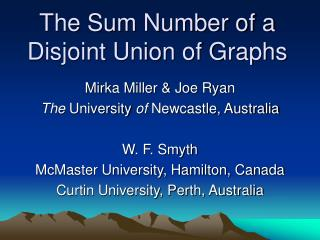 The Sum Number of a Disjoint Union of Graphs