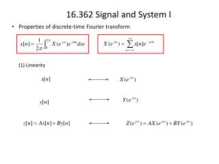 Properties of discrete-time  Fourier  transform