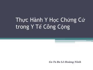 Th?c H�nh Y H?c Ch?ng C? trong Y T? C�ng C?ng