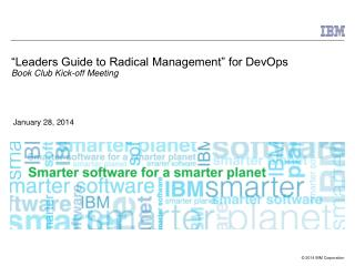 """Leaders Guide to Radical Management"" for DevOps Book Club Kick-off Meeting"