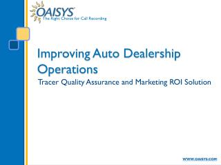 Improving Auto Dealership Operations