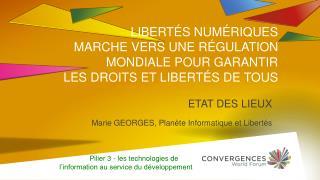 ETAT DES LIEUX Marie GEORGES, Planète Informatique et Libertés