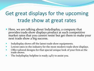 Get Great Trade Show Displays in Indianapolis