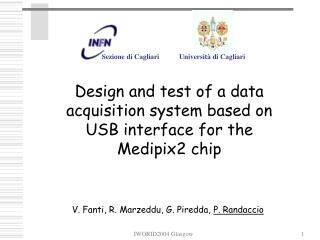 Design and test of a data acquisition system based on USB interface for the Medipix2 chip